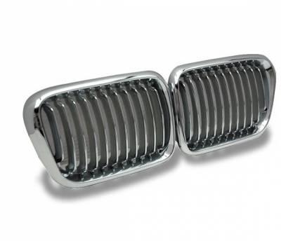 4CarOption - BMW 3 Series 4CarOption Front Hood Grille - GR-E369798XCS-A