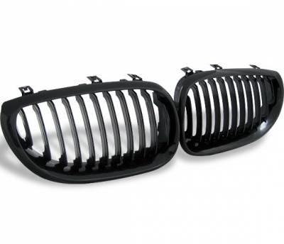 4CarOption - BMW 5 Series 4CarOption Front Hood Grille - GR-E600305XB-A