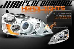 Custom - JDM Chrome Halo Pro Headlights