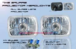 Custom - Square Diamond Cut Pro Headlights