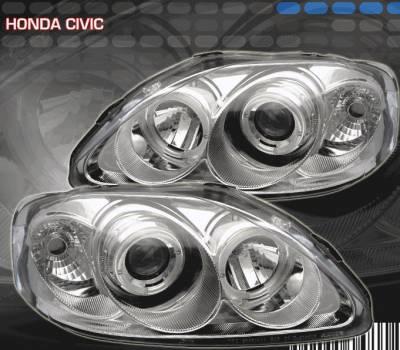 Custom - JDM Style Chrome Halo Pro Headlights