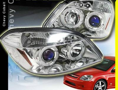 Custom - Chrome 2 Halo LED Headlights