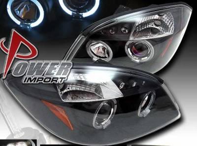 Custom - Black 2 Halo LED Headlights