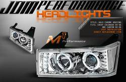 Custom - JDM Chrome LED Halo Pro Headlights
