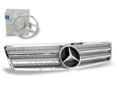 4CarOption - Mercedes R Class 4CarOption Front Hood Grille - GRG-W1299002GFCL2SL