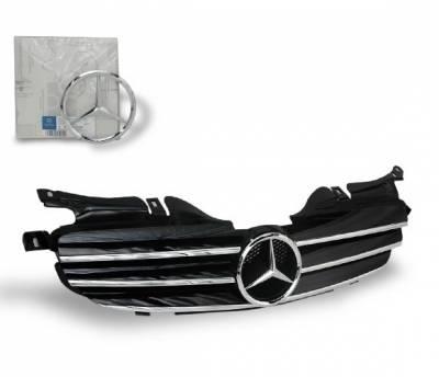 4CarOption - Mercedes R Class 4CarOption Front Hood Grille - GRG-W1709804F-CL3BK