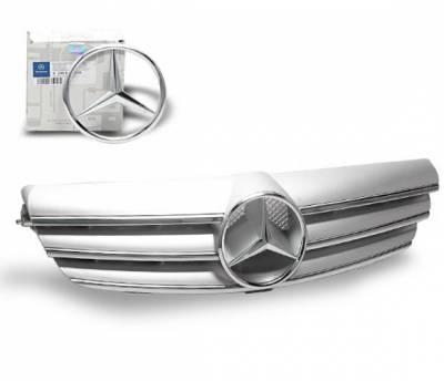 4CarOption - Mercedes CLK 4CarOption Front Hood Grille - GRG-W2090307F-CL3SL