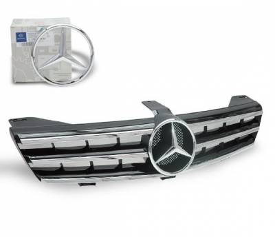 4CarOption - Mercedes CLS 4CarOption Front Hood Grille - GRG-W2190607F-CL3BK