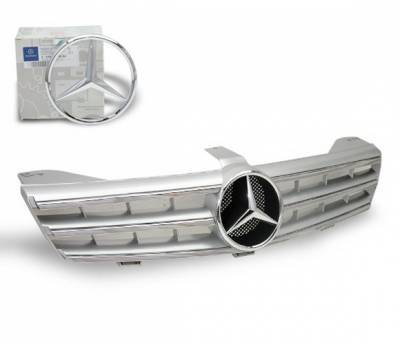 4CarOption - Mercedes CLS 4CarOption Front Hood Grille - GRG-W2190607F-CL3SL