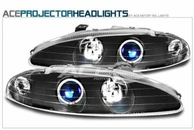 Custom - JDM Black Halo Pro Headlights