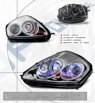 Custom - Euro Chrome Dual Halo Pro Headlights
