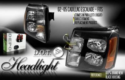 Custom - Euro Black Headlights