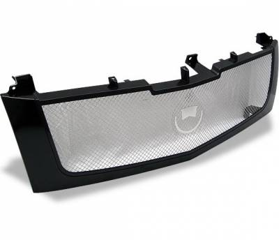 4CarOption - Cadillac Escalade 4CarOption Front Hood Grille - GRZ-ESCL0206-BK