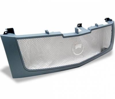 4CarOption - Cadillac Escalade 4CarOption Front Hood Grille - GRZ-ESCL0206-GR