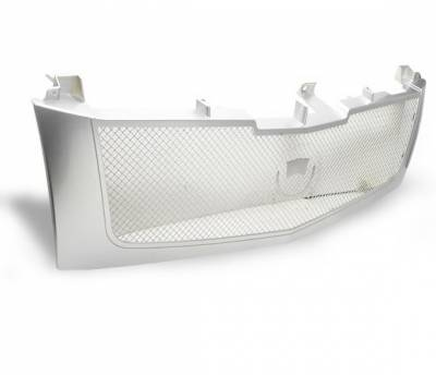 4CarOption - Cadillac Escalade 4CarOption Front Hood Grille - GRZ-ESCL0206-SL