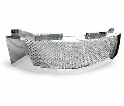 4CarOption - Cadillac Escalade 4CarOption Front Hood Grille - GRZ-ESCL0708-CM