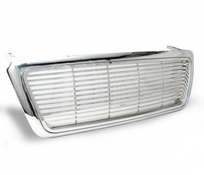 4CarOption - Ford F150 4CarOption Front Hood Grille - GRZ-F1500405-CM