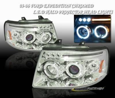 Custom - Chrome Halo LED  Headlights