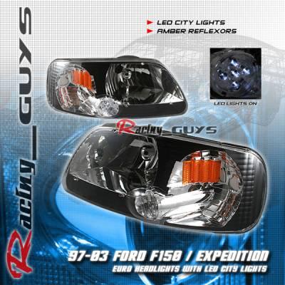 Custom - Euro Black LED City Headlights