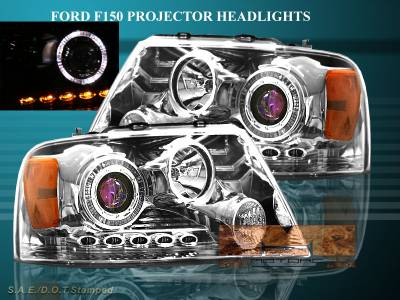 Custom - Chrome Blue Pro LED Headlights