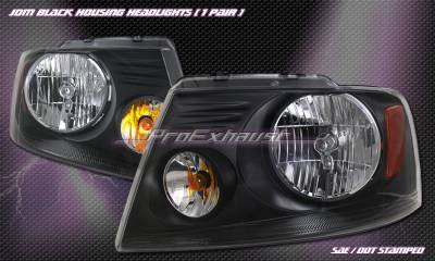 Custom - Euro Black Headlights