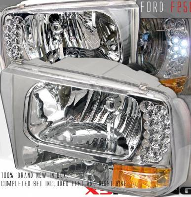 Custom - Chrome Clear LED Headlights