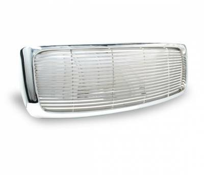 4CarOption - Dodge Ram 4CarOption Front Hood Grille - GRZ-RAM0204-CM