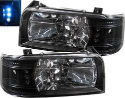 Custom - Black LED Headlights