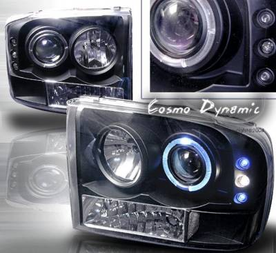 Custom - Black Dual Halo LED Headlights