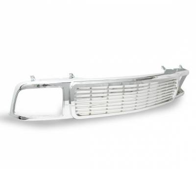4CarOption - Chevrolet S10 4CarOption Front Hood Grille - GRZ-S109497-CM