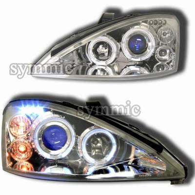 Custom - Chrome Blue LED Pro Headlights