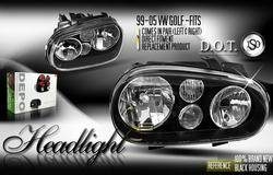 Custom - JDM Black Pro Headlights