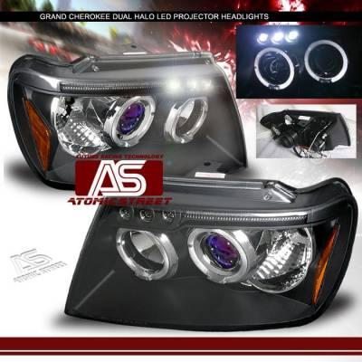 Custom - Black Dual Halo Pro Headlights