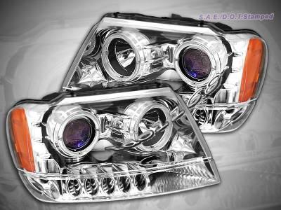 Custom - Chrome Halo Pro LED Headlights