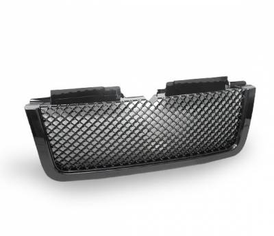 4CarOption - Chevrolet Trail Blazer 4CarOption Front Hood Grille - GRZT-TRBZ0608LT-BK
