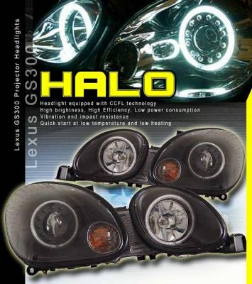 Custom - Black Halo Headlights