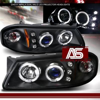 Custom - Black LED Halo Pro Headlights