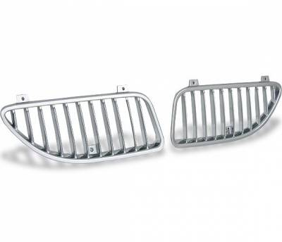 4CarOption - Pontiac Grand Am 4CarOption Front Hood Grille - GRZV-GRAM9903-CM