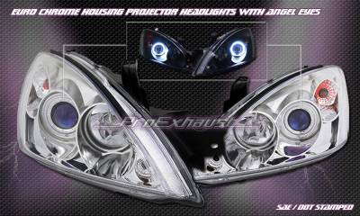 Custom - Chrome Angel Eyes Halo Pro Headlights