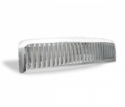 4CarOption - Dodge Ram 4CarOption Front Hood Grille - GRZV-RAM9401-CM