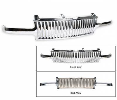 4CarOption - Chevrolet Tahoe 4CarOption Front Hood Grille - GRZV-SLV9902-CM
