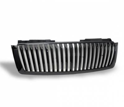 4CarOption - Chevrolet Tahoe 4CarOption Front Hood Grille - GRZV-THO0708-BK