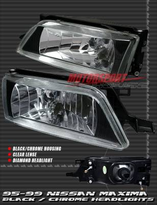Custom - JDM Black Clear  Headlights