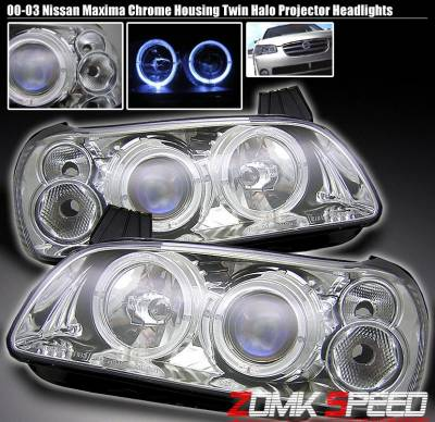 Custom - JDM Chrome Halo Headlights