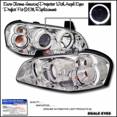 Custom - Euro Chrome Housing Halo Headlights
