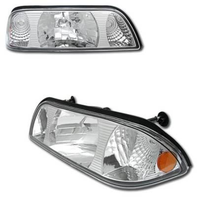Custom - Euro Chrome Diamond Headlights