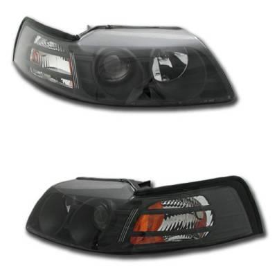 Custom - Euro Black Pro Headlights