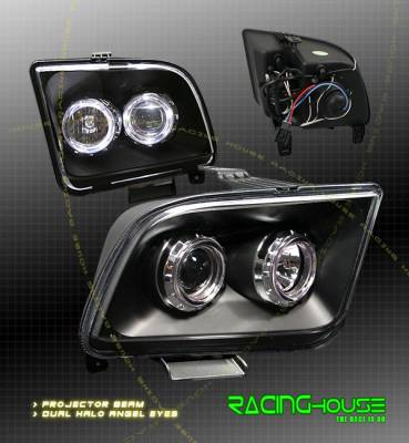 Custom - Black Dual Halo Headlights