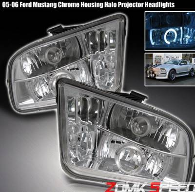 Custom - Euro Chrome Halo Pro Headlights