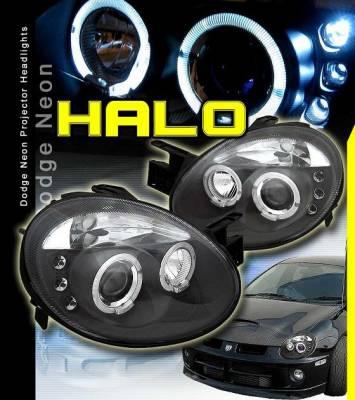 Custom - Black Dual Halo LED Headlights
